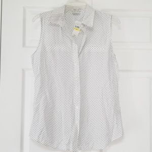 VanHeusen Sleeveless Button Blouse